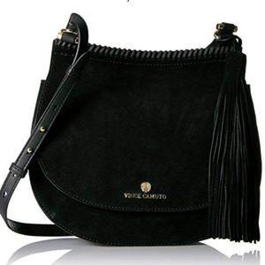 Vince Camuto Crossbody NWT Bag in Black Suede